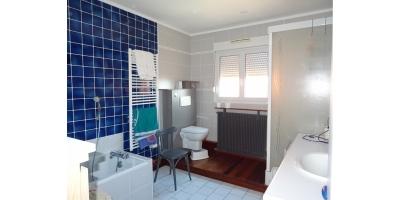 salle de bains-douche-lavabo-baignoire-bois-wc
