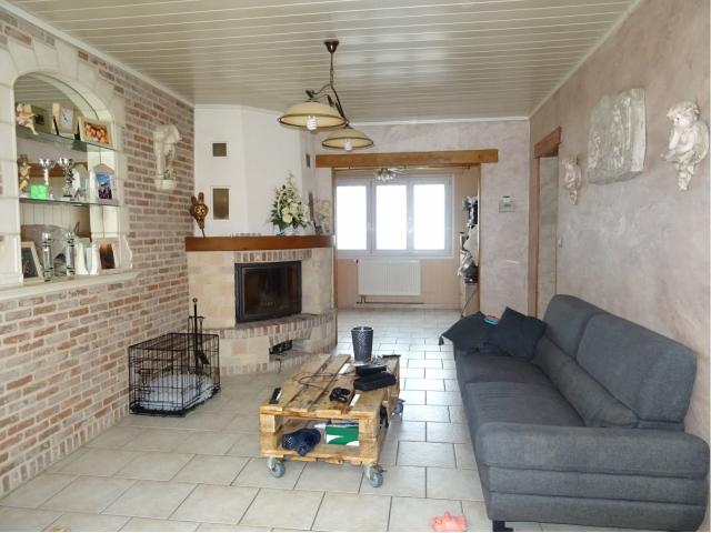 salon sejour cheminee feu de  bois -agence immobiliere mericourt-
