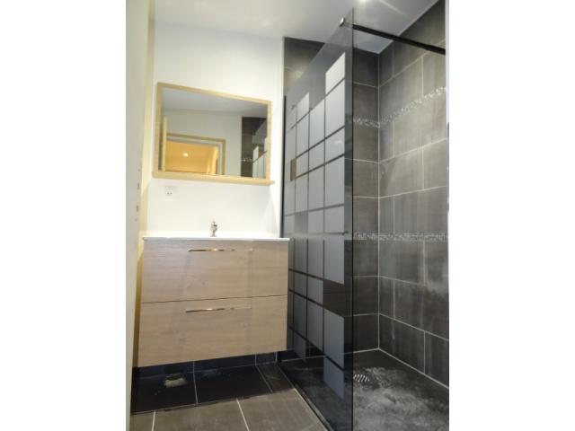 salle de bain-meublée équipée-douche-lavabo-